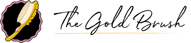 The gold brush logo